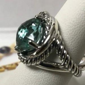 David Yurman Infinity Prasiolite ring size 7